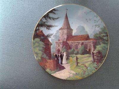 ROYAL WORCESTER MARIETTES WEDDING PLATE THE DARLING BUDS OF MAY + CERT