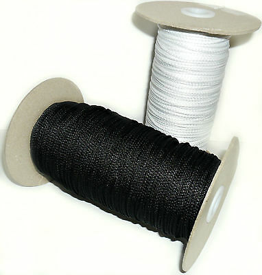 2Mm Synthetic Piping Cord, Available In Black Or White & Different Lengths