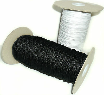 3Mm Synthetic Piping Cord, Available In Black Or White & Different Lengths