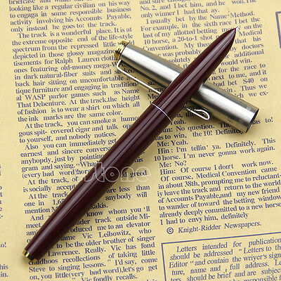 Quality goods Burgundy Hero 329 Stainless Cap Fountain Pens Pen New