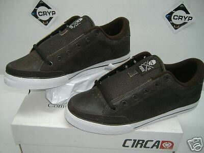 """New Mens 8 CIRCA""""Lopez 50""""Brown Leather Skate Shoes"""