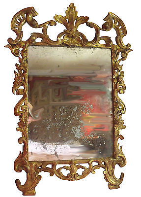 * French Regence Early 18th Century Carved Gilt Mirror