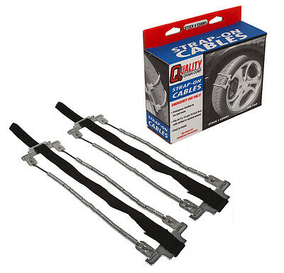 Quality Chain ES8961 Emergency Strap On Tire Chains Snow Traction Passenger Car
