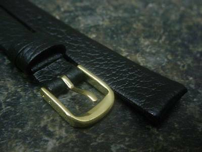 Ladies' Speidel NOS Genuine Black Fine Cowhide Leather 13mm Watch Band W1144