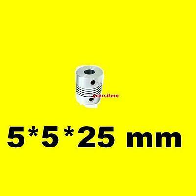 Aluminum Flexible Z Axis Coupler 5x5mm RepRap 3d Printer Prusa Stepper Motor