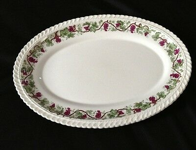 Harker Royal Gadroon Pottery Grapes and Vine Platter serving tray