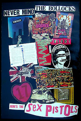 The SEX PISTOLS Never Mind The Bollocks 1977 US ORG Promo Only POSTER PUNK Minty