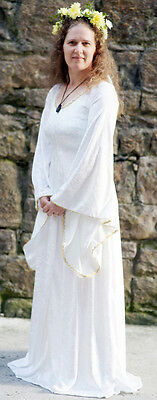 Medieval-Pagan- Handfasting-IVORY Pagan-Wicca Wedding Fancy Dress All Plus Sizes