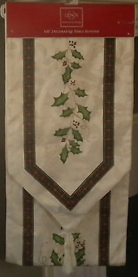 NIP LENOX AMERICAN BY DESIGN IVY 14 X 108 INCHES TABLE RUNNER $70