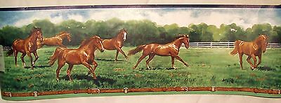 Brown Horses Running Wallpaper Wall Border 5 yds Imperial Inc.
