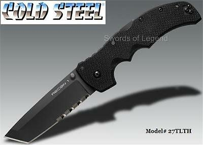 Cold Steel - Recon 1 Tanto Point Half Serrated Folding Knife 27TLTH *NEW*