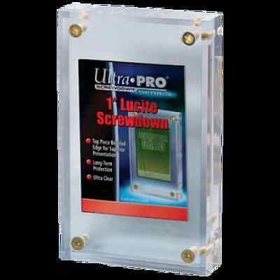 "(5) Ultra Pro 1"" Inch Lucite Brick 4-Screw Card Holder Acrylic Display Slab"