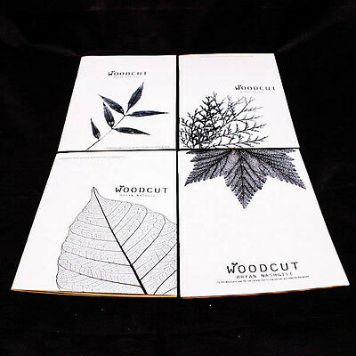 Vintage Chic Design Leaves Nature Book Pattern B&W Blank Notebook Journal A0170