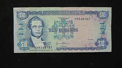 BANK OF JAMAICA TEN DOLLARS  (SEE PICTURES)