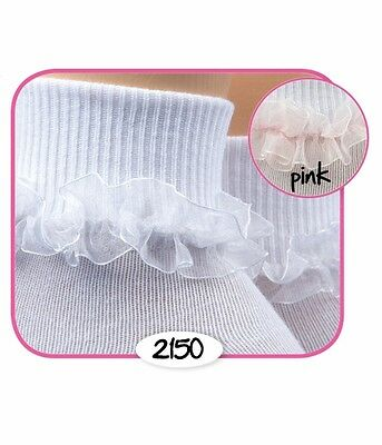 Infant Jefferies Red Black or White Frilly Lace Socks  Newborn Toddler