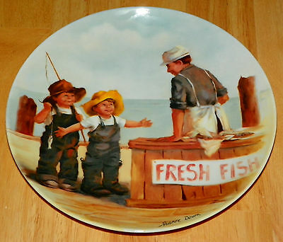 Collector Plate Friends I Remember Collection Series Fish Story