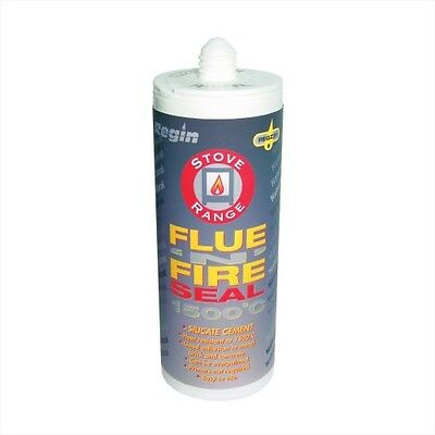 Silicate Cement Flue Seal Silicone 1500°C Fire Proof Sealant, Stove - Natural