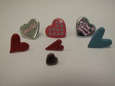 1 x Pack of Heart Brads Paper Fasteners 7 designs to choose Scrapbooking