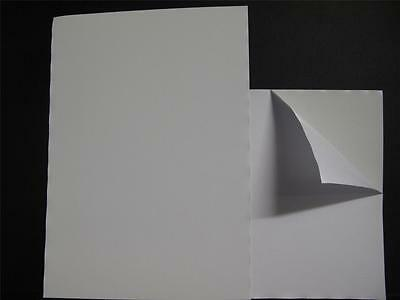 1 x A4 White Self Adhesive Steel Paper 0.2mm Receptive to Magnets 1 Side AM445