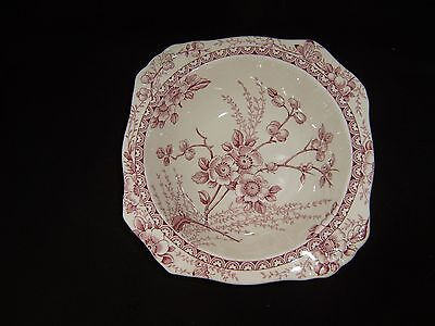 """Alfred Meakin """"Medway Decor"""" Bowl Pink,   Discontinued"""