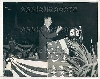 1932 NY Lt Governor William Bray F Roosevelt Campaign Madison Sq  Press Photo