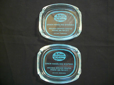 "Advertising Agriculture Ashtrays ""Hi-Plains Perfection Grain Handling System"""