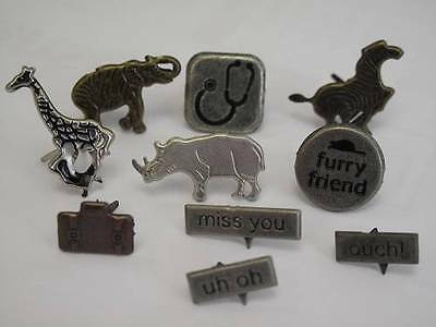 1 x Pack of Themed Metal Brads Paper Fasteners 10 designs to choose Scrapbooking