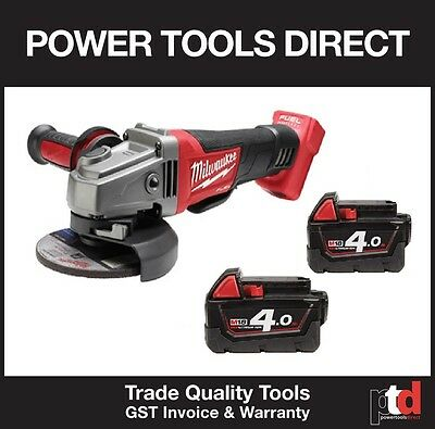 New Milwaukee  Fuel M18 18V Cag125 Xpd 125Mm Angle Grinder W/- 2 Batteries