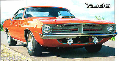 PLYMOUTH 'CUDA SPEC SHEET / Brochure: AAR,1970,1971,1972,...........