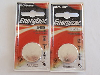 2-Fresh New-Energizer Battery-3V-CR2450--Lithium 3Volts-Fast Shipping-EXP-2025