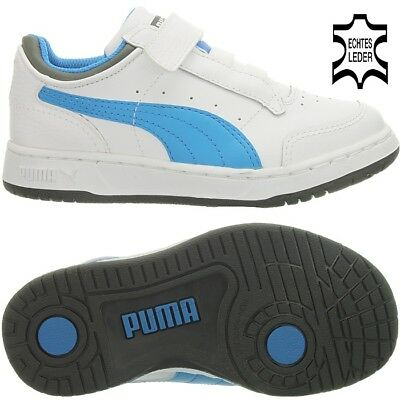 Puma FULL COURT LO 5 KIDS boys girls children shoes trainer white leather OP NEW