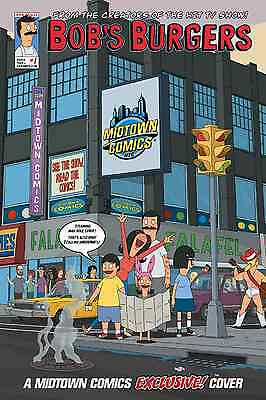 Bob's Burgers 1 Rare Midtown Belchers Nyc Variant Nm Bobs Dynamite Entertainment