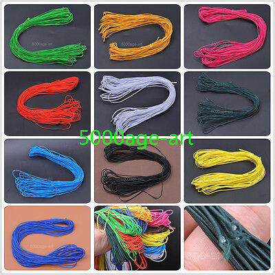 15meters Rubber Round Elastic Cord Findings Wire fit Bracelet Necklace 1mm
