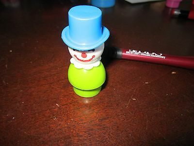 Fisher Price Little People Clown green body blue hat Circus Amusement park toy