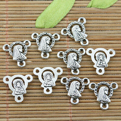 36pcs tibetan silver color religious 3holes connector EF2313