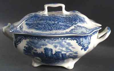 Johnson Brothers OLD BRITAIN CASTLES BLUE Rectangular Tureen 5977472