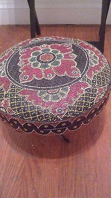 Asian Round Basket/ decorative colours.