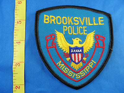 BROOKSVILLE MISSISSIPPI POLICE  EMBROIDERED CLOTH PATCH - FREE US SHIPPING