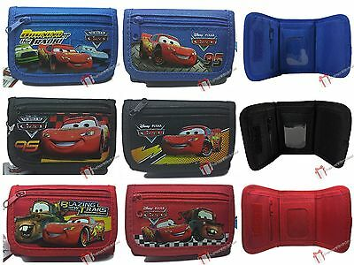 Boys Wallet - DISNEY CARS Black / Blue / Red New McQueen Mater