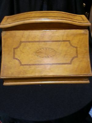 antique desk english adams style lapdesk satin exotic fruit wood inlaid 19th