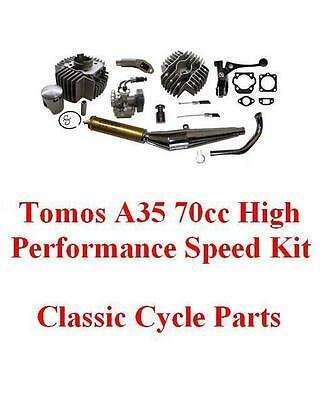 Tomos A35 70cc Big Bore Hi Perf Engine Kit Targa LX Sprint Colibri Includes Carb