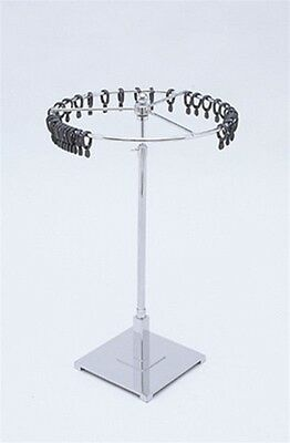 """11"""" Dia. Meter Wheel Revolving Scarf Stand w/ 10"""" Base Retail Store Display New"""