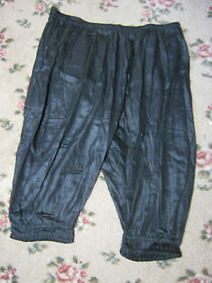 Antique Vintage Women's Clothing Black Silk Bloomers