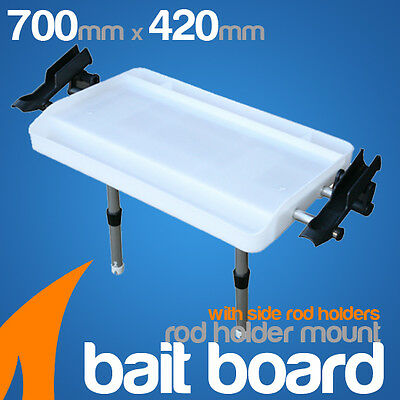 Extra Large Bait Board-Rod holder mount with rod holders boating/fishing/cutting