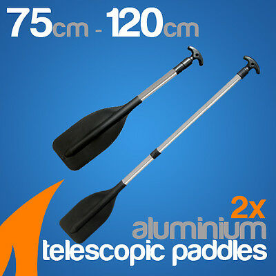 2 x premium 750mm-1200mm Adjustable Aluminium Telescopic Paddles