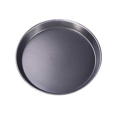 Pizza Cake Bake Pan 8in Metal Round Shape Bakeware Dish Tray Mould Mold Black