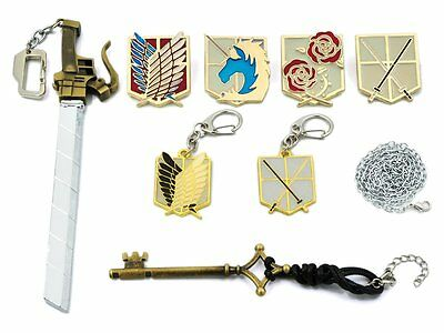 Attack on Titan Shingeki no Kyojin Anime Cosplay Set Sammelbox Pins Eren Levi