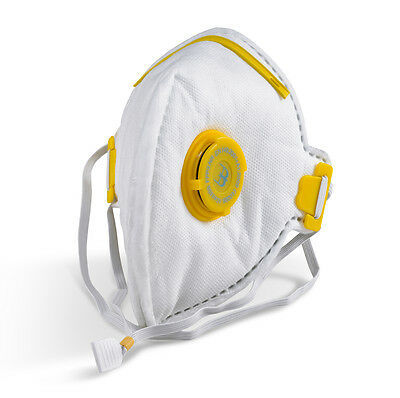 Flat Fold P3 Valved Face Mask Valve Respirator Dust Asbestos Plaster Toxic PPE