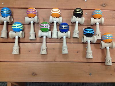 Lot of 10 Kendamas, Triple Stripe, NIB, Momma Kendama,