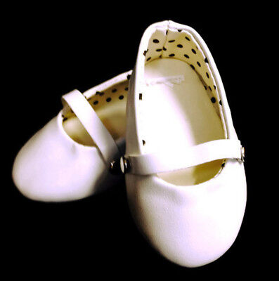 """White Flats Shoes made for 18"""" American Girl Doll Clothes"""